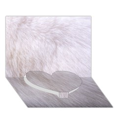 RABBIT FUR Heart Bottom 3D Greeting Card (7x5)
