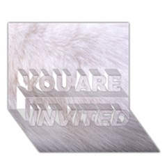 RABBIT FUR YOU ARE INVITED 3D Greeting Card (7x5)