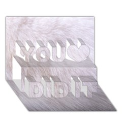 Rabbit Fur You Did It 3d Greeting Card (7x5)