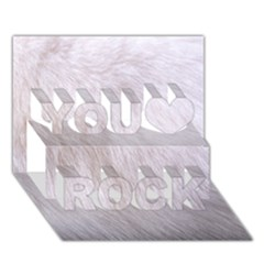 RABBIT FUR You Rock 3D Greeting Card (7x5)
