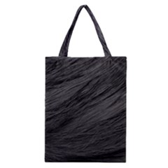 LONG HAIRED BLACK CAT FUR Classic Tote Bags