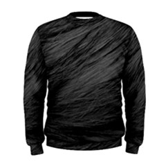 LONG HAIRED BLACK CAT FUR Men s Sweatshirts