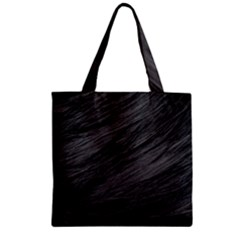 LONG HAIRED BLACK CAT FUR Zipper Grocery Tote Bags
