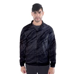 LONG HAIRED BLACK CAT FUR Wind Breaker (Men)