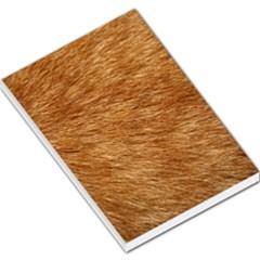 Light Brown Fur Large Memo Pads