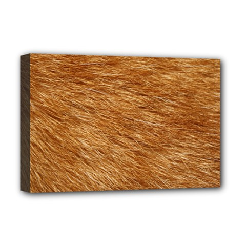 LIGHT BROWN FUR Deluxe Canvas 18  x 12