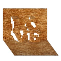 LIGHT BROWN FUR LOVE 3D Greeting Card (7x5)