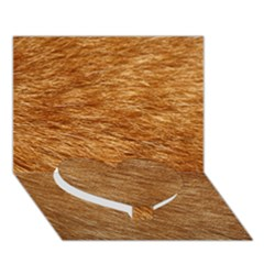 LIGHT BROWN FUR Heart Bottom 3D Greeting Card (7x5)