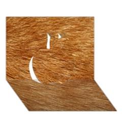 Light Brown Fur Apple 3d Greeting Card (7x5)