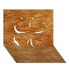 Light Brown Fur Clover 3d Greeting Card (7x5)