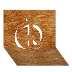 Light Brown Fur Peace Sign 3d Greeting Card (7x5)