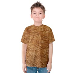 LIGHT BROWN FUR Kid s Cotton Tee