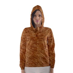 LIGHT BROWN FUR Hooded Wind Breaker (Women)