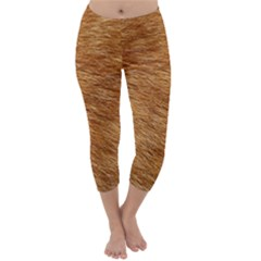 Light Brown Fur Capri Winter Leggings