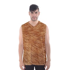 LIGHT BROWN FUR Men s Basketball Tank Top