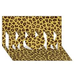 Leopard Fur Mom 3d Greeting Card (8x4)