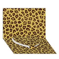 LEOPARD FUR Heart Bottom 3D Greeting Card (7x5)