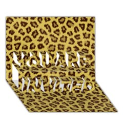Leopard Fur You Are Invited 3d Greeting Card (7x5)