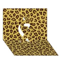 Leopard Fur Ribbon 3d Greeting Card (7x5)