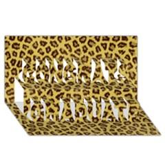 Leopard Fur Congrats Graduate 3d Greeting Card (8x4)