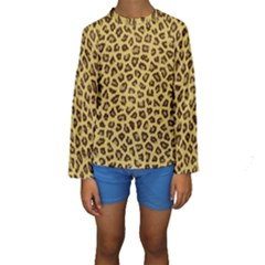 Leopard Fur Kid s Long Sleeve Swimwear