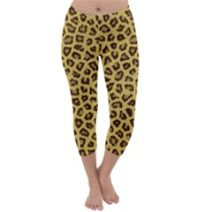 LEOPARD FUR Capri Winter Leggings
