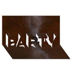 HORSE FUR PARTY 3D Greeting Card (8x4)