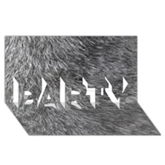 Grey Wolf Fur Party 3d Greeting Card (8x4)