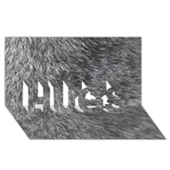 GREY WOLF FUR HUGS 3D Greeting Card (8x4)