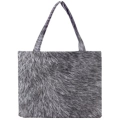 GREY WOLF FUR Tiny Tote Bags