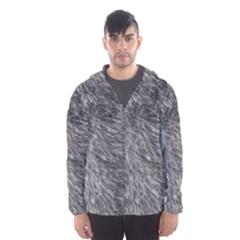 Grey Wolf Fur Hooded Wind Breaker (men)