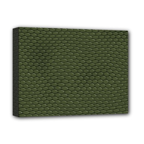 GREEN REPTILE SKIN Deluxe Canvas 16  x 12