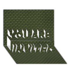 Green Reptile Skin You Are Invited 3d Greeting Card (7x5)