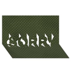Green Reptile Skin Sorry 3d Greeting Card (8x4)
