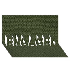 Green Reptile Skin Engaged 3d Greeting Card (8x4)