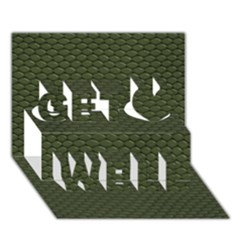 Green Reptile Skin Get Well 3d Greeting Card (7x5)
