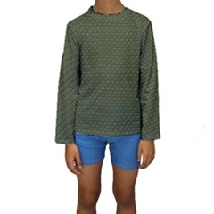 GREEN REPTILE SKIN Kid s Long Sleeve Swimwear