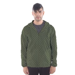GREEN REPTILE SKIN Hooded Wind Breaker (Men)