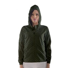 GREEN REPTILE SKIN Hooded Wind Breaker (Women)