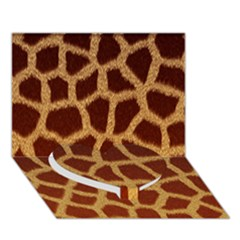 Giraffe Hide Heart Bottom 3d Greeting Card (7x5)