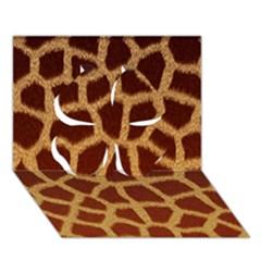 Giraffe Hide Clover 3d Greeting Card (7x5)