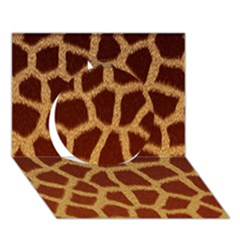 GIRAFFE HIDE Circle 3D Greeting Card (7x5)
