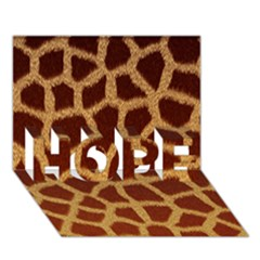 Giraffe Hide Hope 3d Greeting Card (7x5)