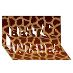 Giraffe Hide Best Wish 3d Greeting Card (8x4)