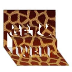Giraffe Hide Get Well 3d Greeting Card (7x5)