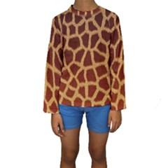 GIRAFFE HIDE Kid s Long Sleeve Swimwear