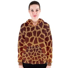 GIRAFFE HIDE Women s Zipper Hoodies