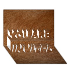 Dog Fur You Are Invited 3d Greeting Card (7x5)