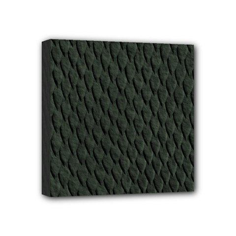 DARK GREEN SCALES Mini Canvas 4  x 4