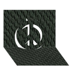 DARK GREEN SCALES Peace Sign 3D Greeting Card (7x5)